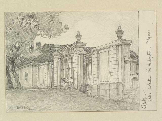 Ferdinand Boberg: Södra Porten, Leufsta bruk, 1921